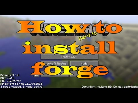 How to Install Minecraft Forge 1.8.8