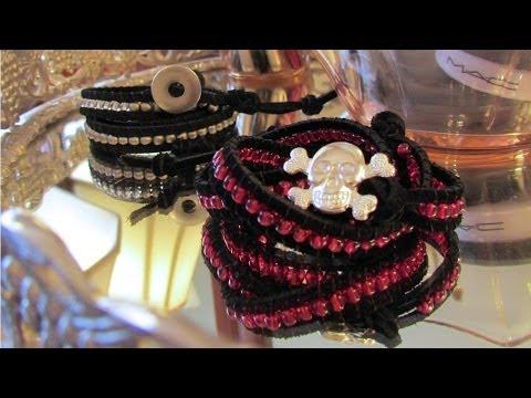 Beaded wrap bracelet - triple wrap - tutorial