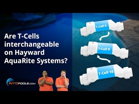 Are T-Cells interchangeable on Hayward AquaRite Systems?