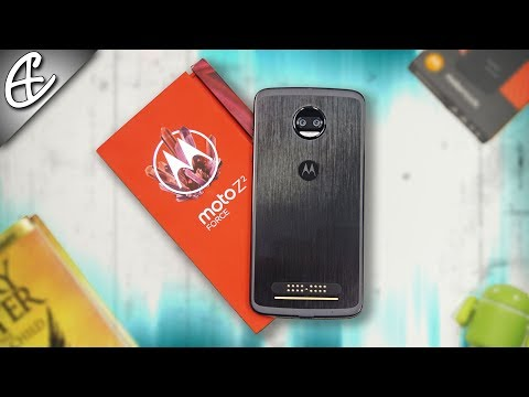 Moto Z2 Force w/ TurboPower Mod - Unboxing & Hands On!