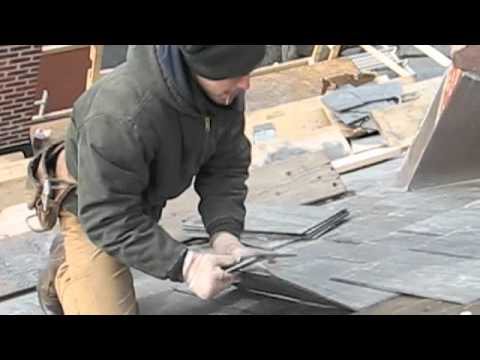 How remove and install slate roof tiles