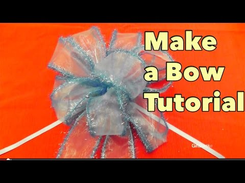 DIY Make a Bow Tutorial - Giftbasketappeal