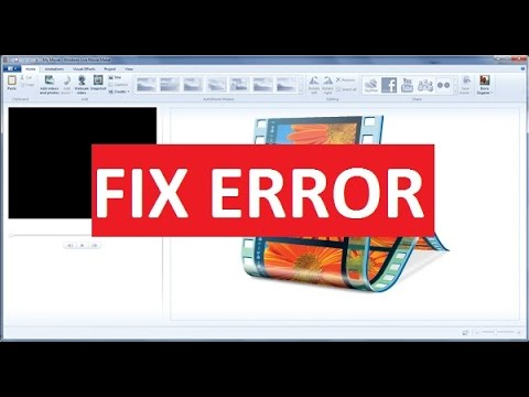 How to fix Windows Movie Maker Minimum System Requirements Error