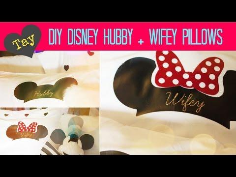 DIY Disney Couple Pillows - CRICUT TUTORIAL