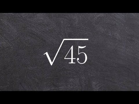 How to Simplify the Radical of 45