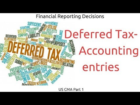 Deferred Tax – Accounting entries | Financial Reporting Decisions| US CMA Part 1| US CMA course