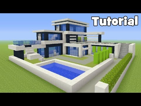 Minecraft Tutorial: How To Make A Modern Mansion #4