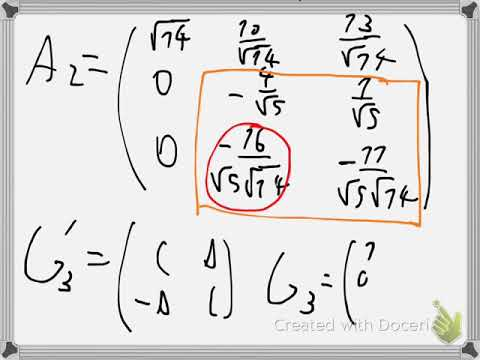 Numerical QR factorization with Givens rotation Example 2
