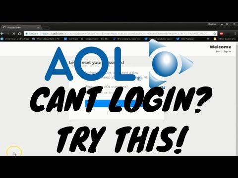 Can't Login To AOL Account! FIX!