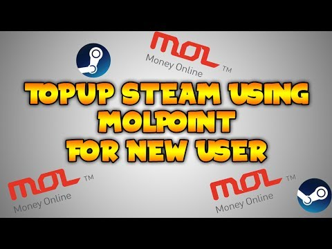 How to TopUp Steam using MolPoints for New User!