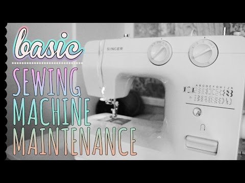 Basic Sewing Machine Maintenance - how to clean and oil your sewing machine