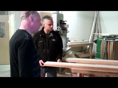 The first stages of making a wood propeller