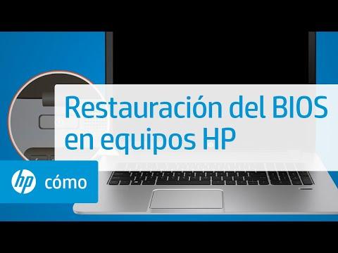 Restauración del BIOS en equipos HP mediante una combinación de teclas