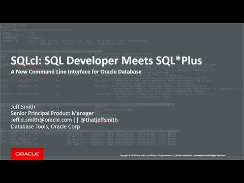 Oracle SQLcl Demonstration