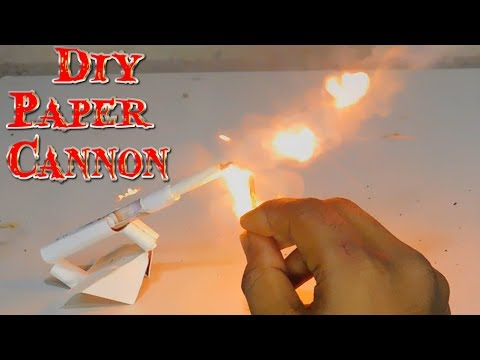 Diy paper cannon | How to make a cannon by cigarette packet | Homemade cannon | stupid Engineer.