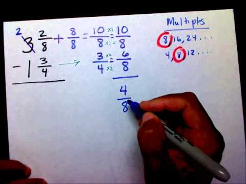 Subtract Fractions Part 4