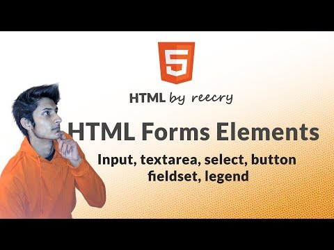 HTML Form Elements - Input, textarea, select, button, fieldset, legend - Learn HTML in Hindi