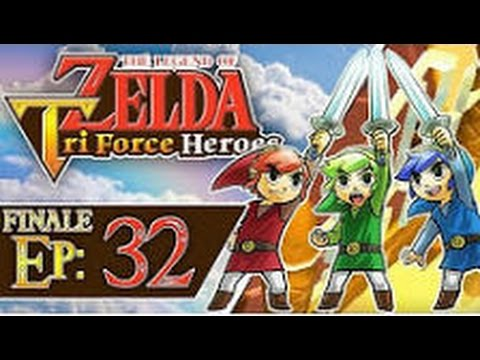 The Legend of Zelda: Triforce Heroes - Part 32/Finale: Sky Temple (3 Players)