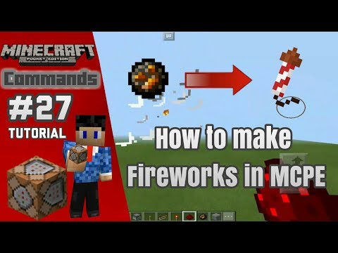 How to make Fireworks in MCPE