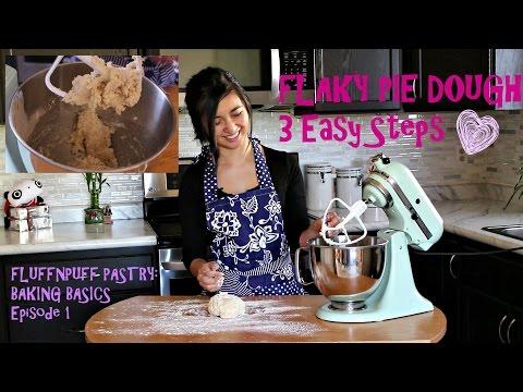 Easy Flaky Pie Crust Dough Recipe (3 Easy Steps) - Fluffnpuff Pastry Baking Basics
