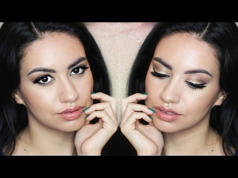 Easy Holiday & Christmas Glam Makeup Tutorial for Olive Skin