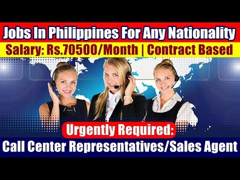 Jobs In Philippines (For All Nationalities): Need