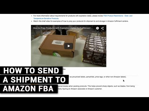 How To Send A Shipment To Amazon FBA