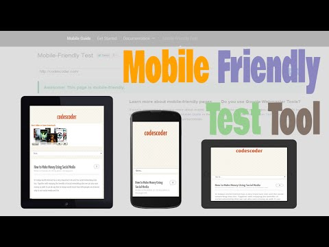 Google's Mobile Friendly Test Tool check your website is Mobile friendly or not