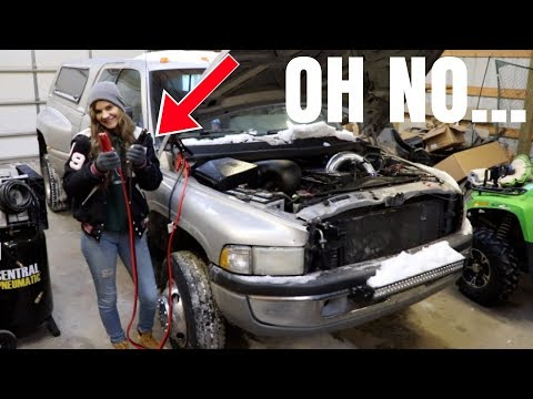 DOES SHE KNOW HOW TO JUMP START A DIESEL TRUCK???
