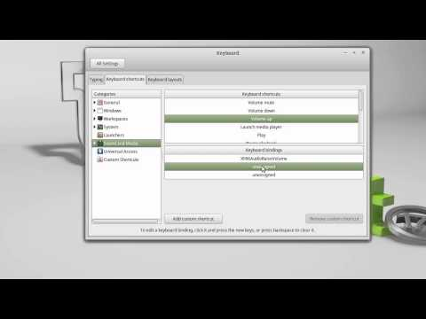 Linux Mint Control volume level with keyboard shortcuts