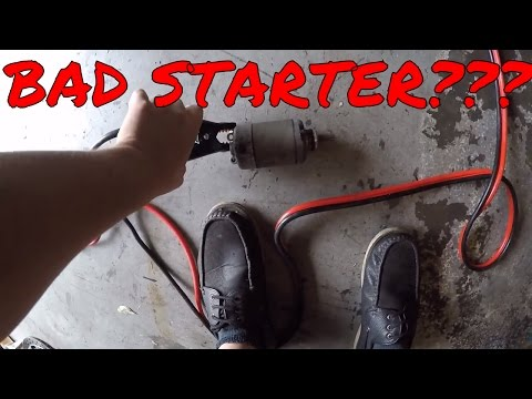 Bad starter? Motorcycle Starter Test