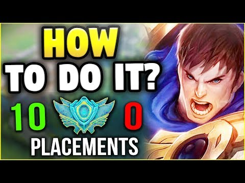 HOW I WENT 10-0 IN MY PLACEMENTS WITH GAREN (IN 10 MINUTES) HERE'S HOW - League of Legends