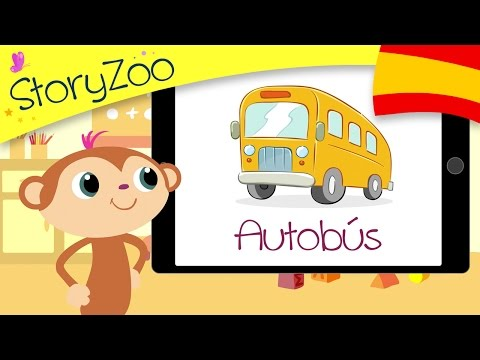 Vehicles • Kids' Learning First Words • Spanish