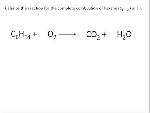 Balancing Combustion Reactions - Chemistry Tutorial