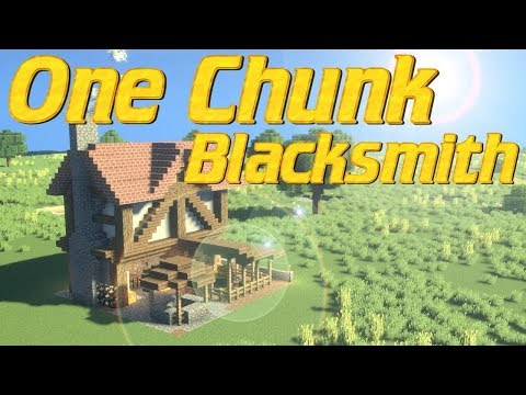 Minecraft - One Chunk Build Tutorial | How to Make a Blacksmith in Minecraft | Tudor House Smithy