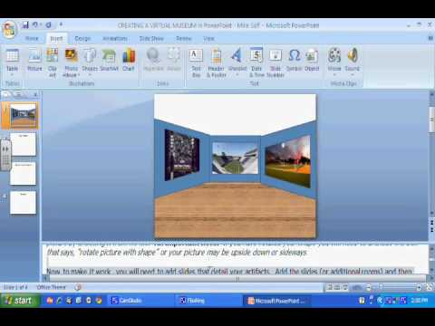 Creating a Virtual Museum in Microsoft PowerPoint