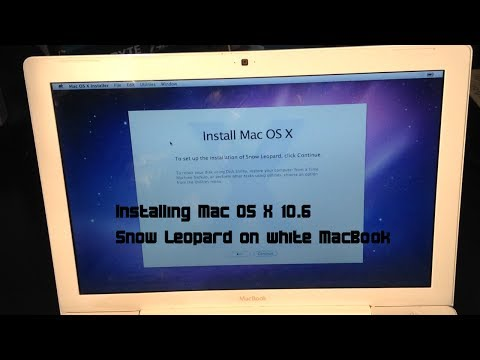 Installing Mac OS X 10.6 Snow Leopard on white MacBook