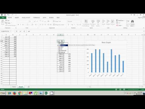 How to create a Dynamic Excel Chart Using Indirect Function? (Urdu / Hindi)