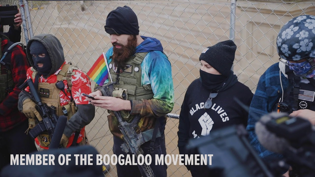 Armed 'boogaloo boys' gather at Michigan Capitol