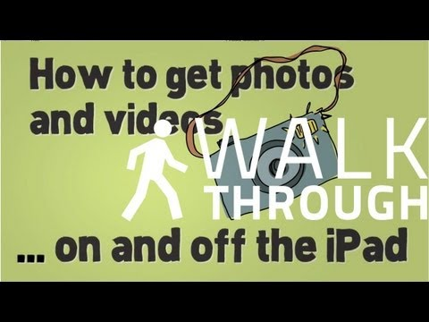 How to get photos and videos on and off  the iPad