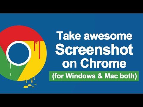 How To Take A Screenshot on Google Chrome (Windows / Mac) 2017