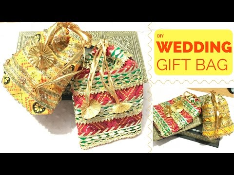 How to Make a Wedding Gift Bag | DIY Jewellery Pouches