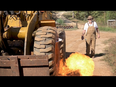 Tire Off The Rim? Here's An Explosive Solution! | Moonshiners