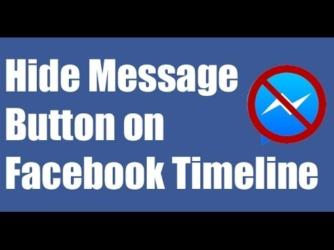 How to Remove Message Button on Facebook Timeline 2017