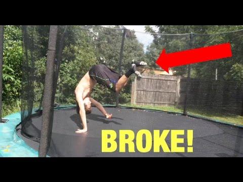 Friend BREAKS his ankle on TRAMPOLINE?!?