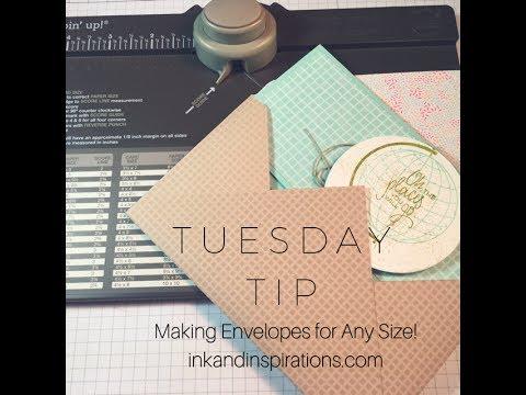 Tip for Making Envelopes for Handmade Cards