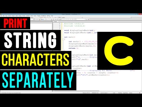 C Program to Print String Characters One By One using Loop