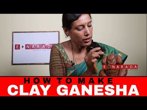 Eco friendly Ganpati | Make your own clay Ganesha at Home | Demo by Mamatha