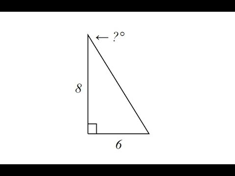 Use Inverse Tangent to Determine an Angle in a Right Triangle