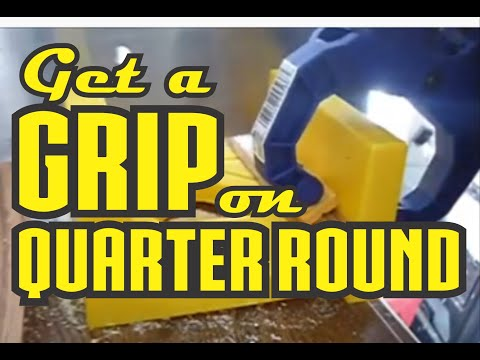 Grip for Cutting Quarter Round Molding in Mitre Box